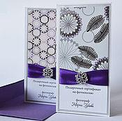 Сувениры и подарки ручной работы. Ярмарка Мастеров - ручная работа Подарочный сертификат с пряжкой. Handmade.