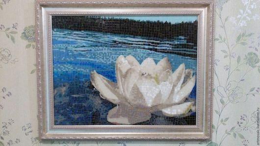 """Картины цветов ручной работы. Ярмарка Мастеров - ручная работа. Купить Мозаичная """"Кувшинка"""". Handmade. Мозаика, лилия, цветы, lily"""