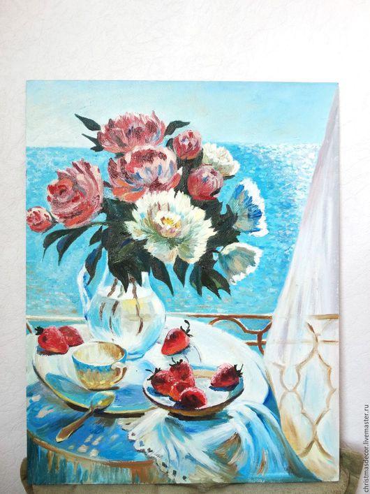Солнечная картина в подарок вашим друзьям. Картина маслом 35х45 и картина на холсте, она покрыта лаком. Картина на стену в подарок для друзей. Яркая картина для дома вашего дома.
