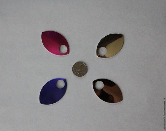 Другие виды рукоделия ручной работы. Ярмарка Мастеров - ручная работа. Купить Чешуйки алюминий анодированные (большие) 10 шт. Handmade.