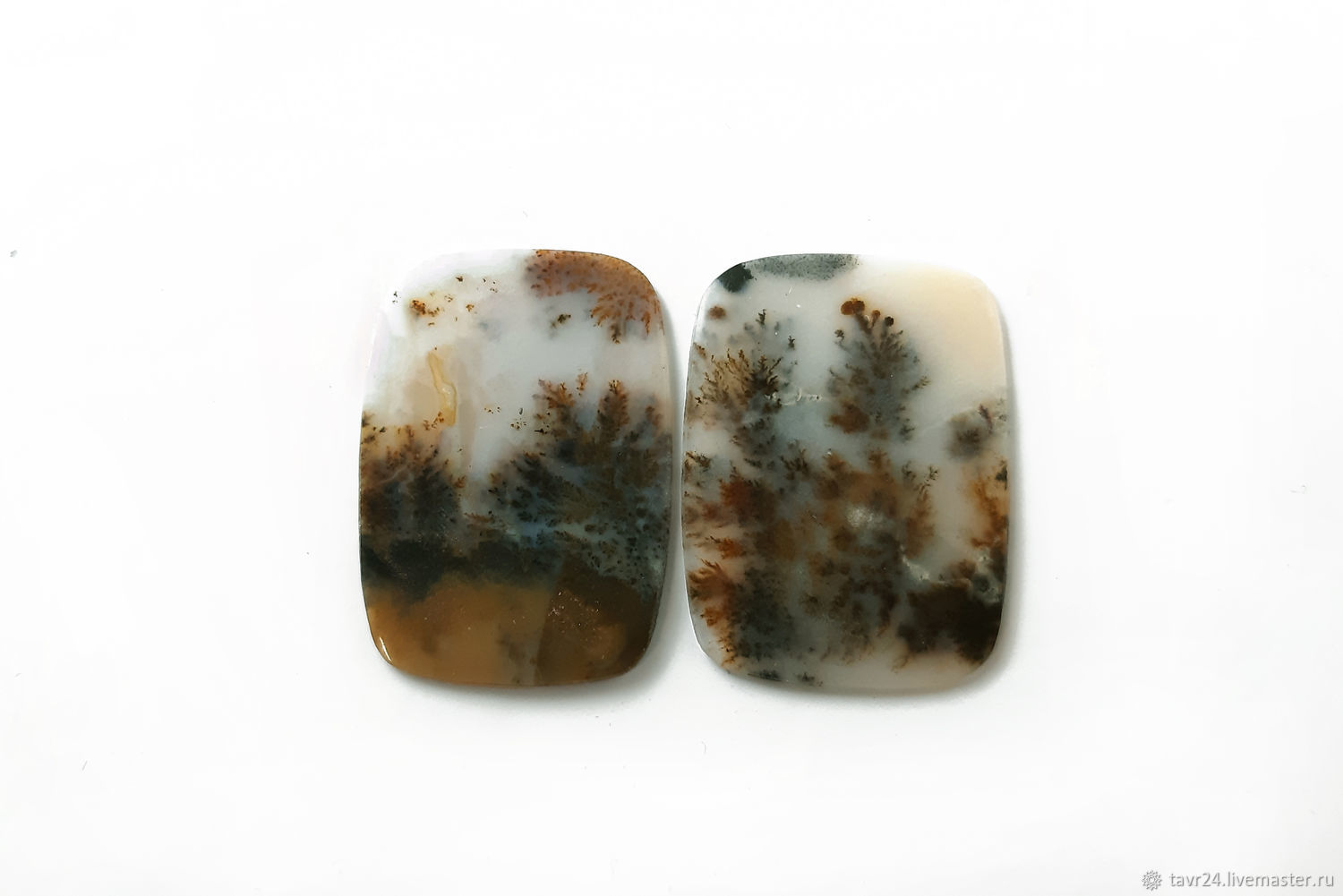 Set of moss agate cabochons No. 2-9, Cabochons, St. Petersburg,  Фото №1