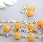 """Jewelry Sets handmade. Livemaster - original item Комплект """"Солнца луч золотой и живительный."""". Handmade."""