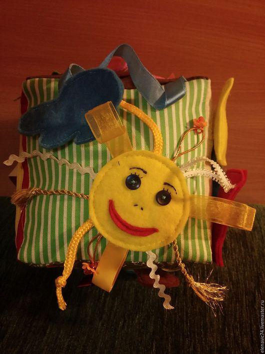 Развивающие игрушки ручной работы. Ярмарка Мастеров - ручная работа. Купить Развивающий кубик. Handmade. Разноцветный, ткань