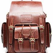 Сумки и аксессуары handmade. Livemaster - original item Leather backpack a Camel brown. Handmade.
