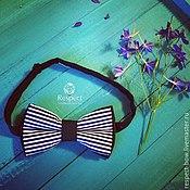 Аксессуары handmade. Livemaster - original item Tie Storm seas / dark blue bow tie with stripes. Handmade.