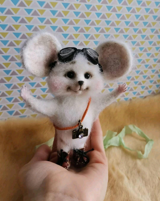 Мышонок путешественник, Войлочная игрушка, Самара,  Фото №1