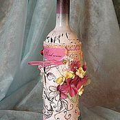 Сувениры и подарки ручной работы. Ярмарка Мастеров - ручная работа Бутылка вина для дамы. Handmade.