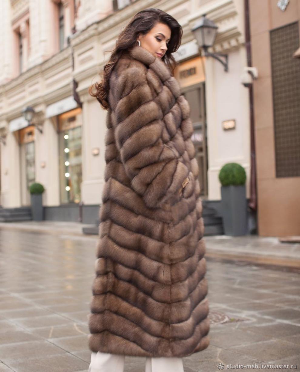 длинная шуба из соболя фото одежды один наиболее