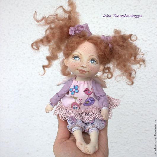 Ангел-хранитель. Красивая текстильная интерьерная кукла с расписанным лицом. Куклы Томашевской Ирины.