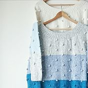 Одежда ручной работы. Ярмарка Мастеров - ручная работа Вязаный джемпер Skittles. Handmade.