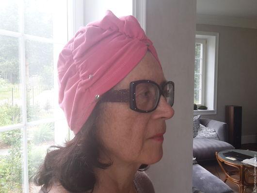 Шляпы ручной работы. Ярмарка Мастеров - ручная работа. Купить Авторская чалма-скульптура лососевого цвета. Handmade. Коралловый, бохо