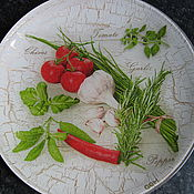 Тарелки ручной работы. Ярмарка Мастеров - ручная работа Декоративная тарелка Прованские травы. Handmade.