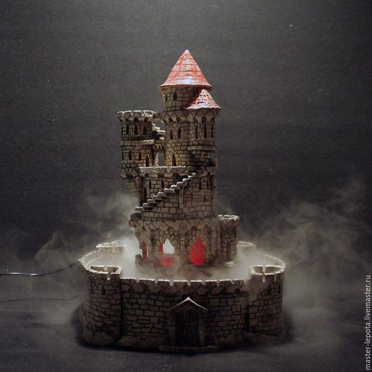"""Подсвечники ручной работы. Ярмарка Мастеров - ручная работа. Купить Туманный замок """"Вард"""". Handmade. Туман, крепость, подсвечник"""
