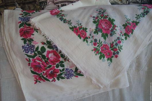 Винтажная одежда и аксессуары. Ярмарка Мастеров - ручная работа. Купить Платки винтажные. Handmade. Комбинированный, платок павловопосадский, хлопковый