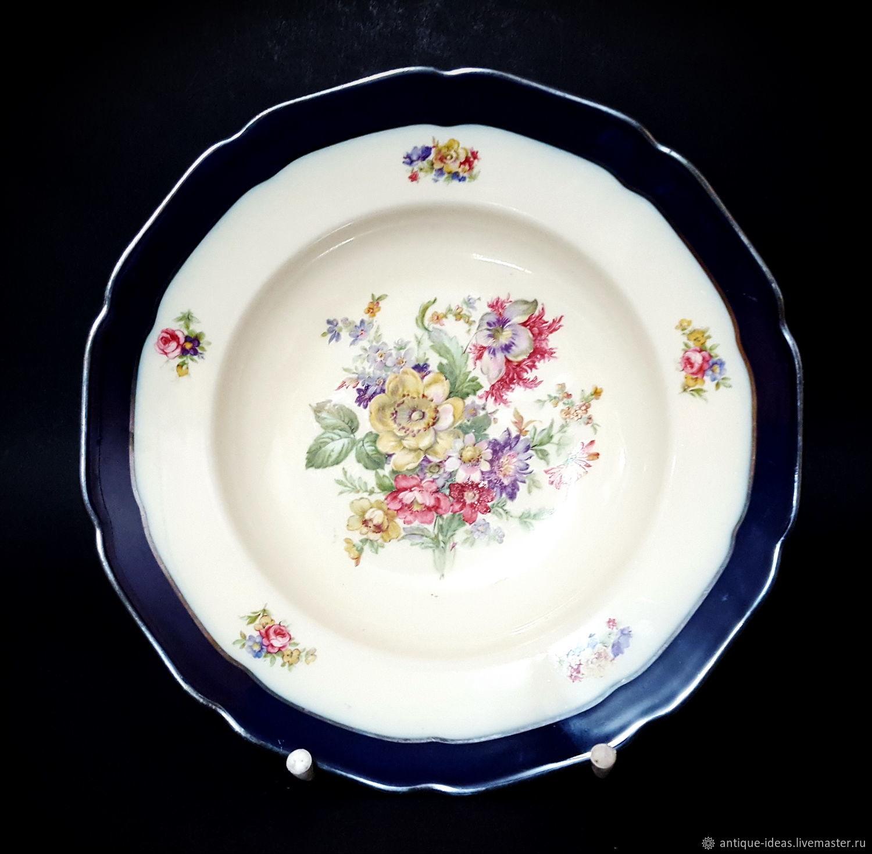 Винтаж: 1939 - 1945 Hutschenreuther Hohenberg. Глубокая тарелка, Тарелки винтажные, Франкфурт-на-Майне,  Фото №1