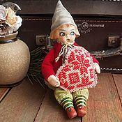 Подарки на 14 февраля ручной работы. Ярмарка Мастеров - ручная работа Подарки на 14 февраля: Гном Валентинка. Handmade.