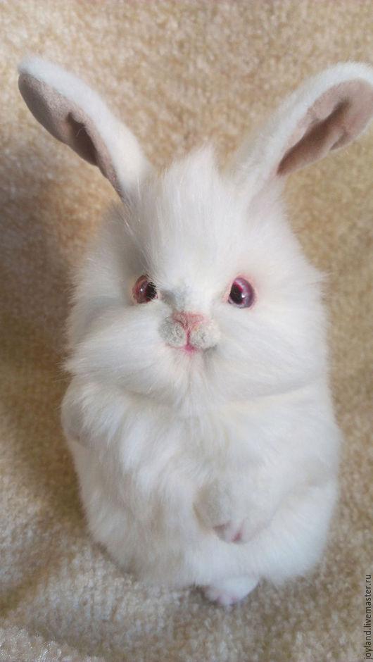 Куклы и игрушки ручной работы. Ярмарка Мастеров - ручная работа. Купить Белый кролик Изабель. Handmade. Белый, миништоф