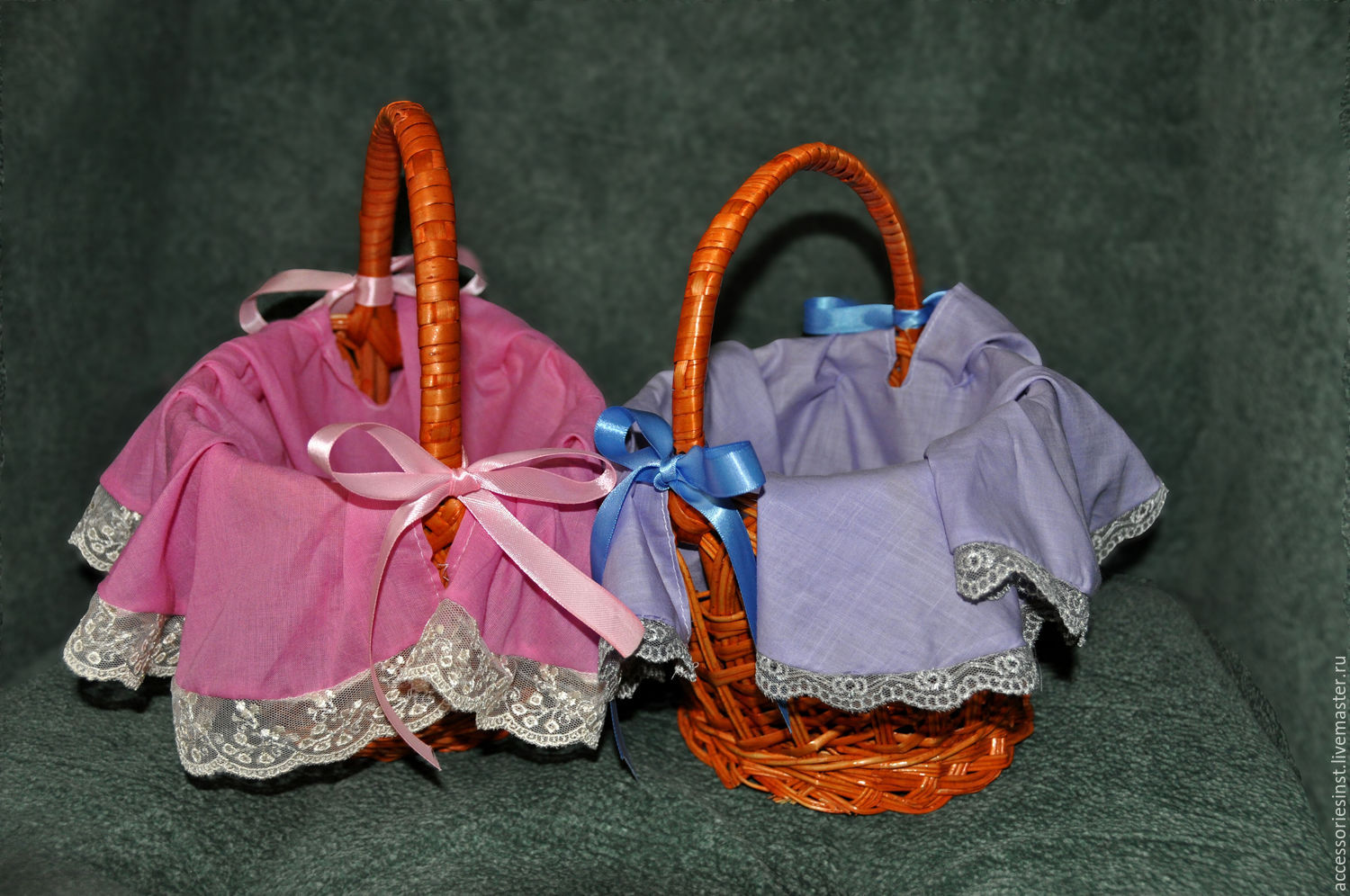 Small baskets (blue and pink), Baskets, Moscow,  Фото №1