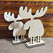 Материалы для творчества handmade. Livemaster - original item Elk on the stand-blank for decoupage. Handmade.