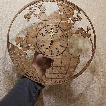Для дома и интерьера ручной работы. Ярмарка Мастеров - ручная работа Часы-глобус. Handmade.