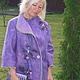 """Верхняя одежда ручной работы. Ярмарка Мастеров - ручная работа. Купить Пальто """"Amethyst Orchid"""". Handmade. Фиолетовый, волокна вискозы"""