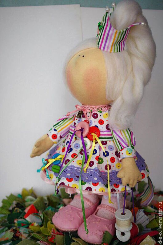 """Человечки ручной работы. Ярмарка Мастеров - ручная работа. Купить Тильда """"Принцесса пуговка"""". Handmade. Комбинированный, тильда кукла"""