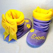 Обувь ручной работы handmade. Livemaster - original item Slippers Bows nominal. Handmade.