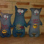 Куклы и игрушки ручной работы. Ярмарка Мастеров - ручная работа Джинсовые коты. Handmade.