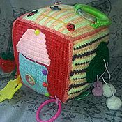 Куклы и игрушки ручной работы. Ярмарка Мастеров - ручная работа Развивающий кубик.. Handmade.