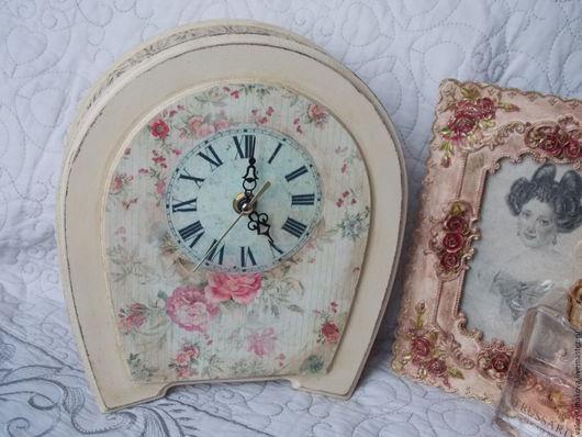 """Часы для дома ручной работы. Ярмарка Мастеров - ручная работа. Купить часы """"ДЕРЕВЕНСКИЙ ШИК"""". Handmade. Бежевый, часы для дома"""