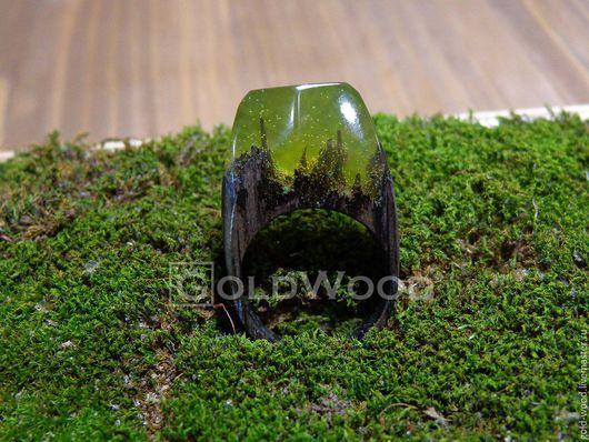 """Кольца ручной работы. Ярмарка Мастеров - ручная работа. Купить Деревянное кольцо """"Зеленая принцесса"""", кольцо из дерева. Handmade."""