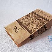 Материалы для творчества ручной работы. Ярмарка Мастеров - ручная работа Крафт пакет, бумажный, с рисунком Handmade, 19х10х7, упаковка, пакеты. Handmade.