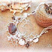 """Украшения ручной работы. Ярмарка Мастеров - ручная работа Колье с аромакулоном """"Теплая волна"""". Handmade."""