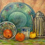 Картины и панно ручной работы. Ярмарка Мастеров - ручная работа Натюрморт с яблоками. Handmade.