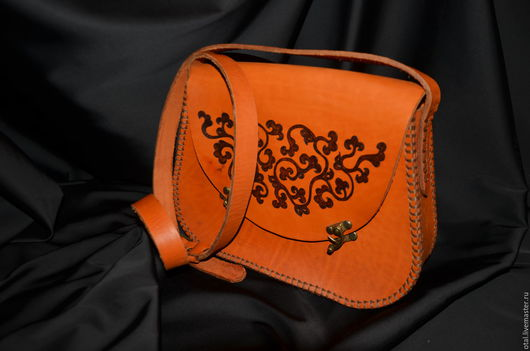 Женские сумки ручной работы. Ярмарка Мастеров - ручная работа. Купить Сумка кожаная. Handmade. Рыжий, кожа натуральная