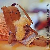Куклы и игрушки ручной работы. Ярмарка Мастеров - ручная работа Сонный зайка. Handmade.