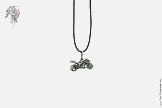 Мотоцикл Honda CBR.  CRAZY SILVER ™  Кулон ручной работы из серебра 925, максимальная детализация, масштабная копия спортивного мотоцикла Honda CBR