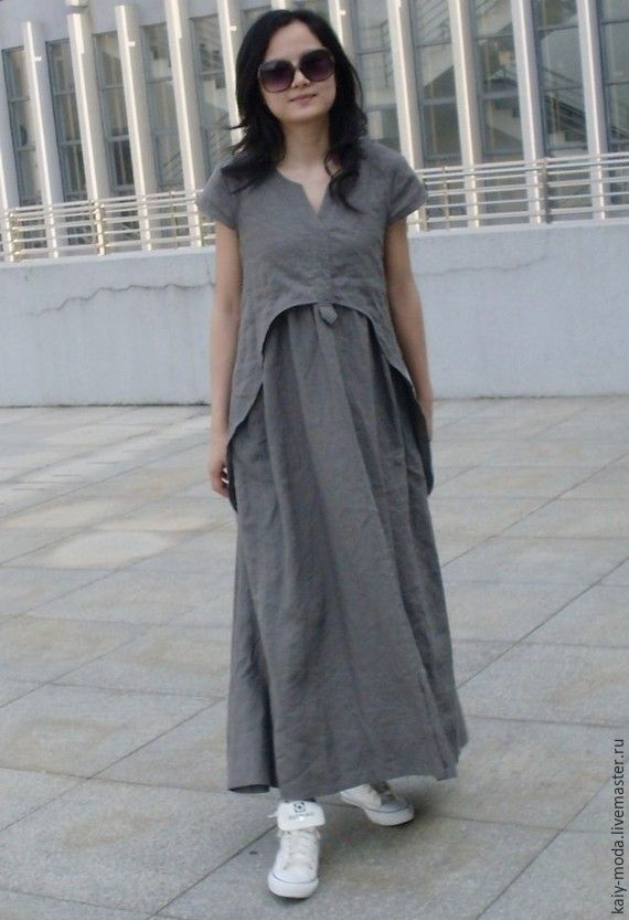 Gray dress in the style boho, Dresses, Moscow,  Фото №1