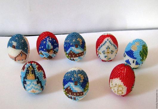Яйца ручной работы. Ярмарка Мастеров - ручная работа. Купить яйцо пасхальное из бисера. Handmade. Комбинированный, бисер чешский, игрушка