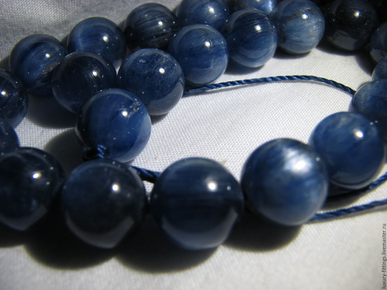 Kyanite, 10mm, kyanite genuine, high quality, Beads1, Moscow,  Фото №1