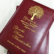 Канцелярские товары handmade. Livemaster - original item Diary with individual engraving, any design. Handmade.