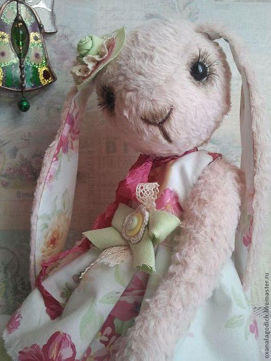 Мишки Тедди ручной работы. Ярмарка Мастеров - ручная работа. Купить заюшка  Марта. Handmade. Бледно-розовый