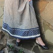 Одежда ручной работы. Ярмарка Мастеров - ручная работа Комфортный льняной сарафан.. Handmade.