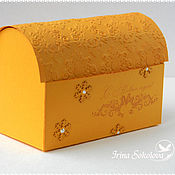 """Подарки к праздникам ручной работы. Ярмарка Мастеров - ручная работа Коробочка для подарка """"Новогодняя"""". Handmade."""