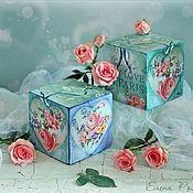 """Подарки к праздникам ручной работы. Ярмарка Мастеров - ручная работа Кубики """"Любовь в Париже"""". Handmade."""