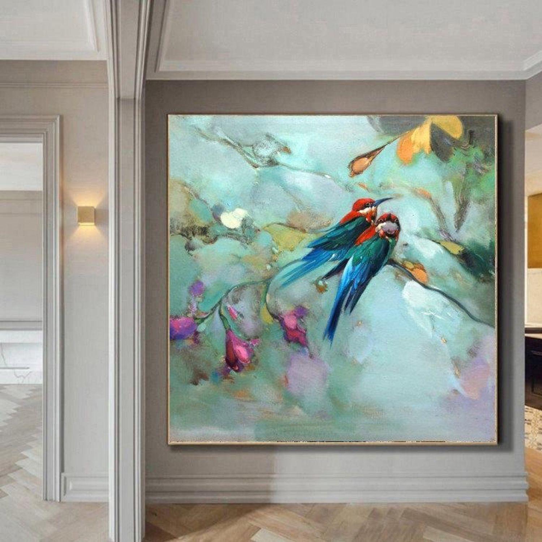 Картина с птицами Большая картина в гостиную Колибри маслом на холсте, Картины, Санкт-Петербург,  Фото №1