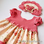"""Работы для детей, ручной работы. Ярмарка Мастеров - ручная работа Платье """"НЕЖНОСТЬ РОЗЫ"""" для маленькой леди. Handmade."""