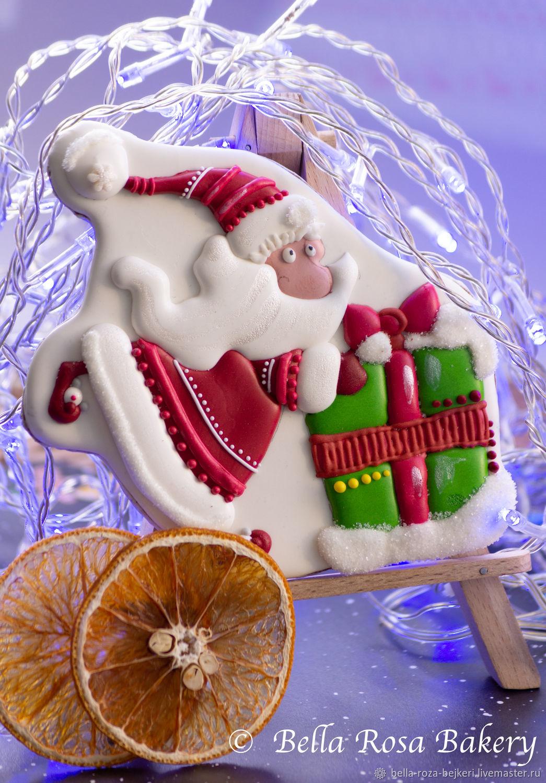 Дед мороз с подарком, Пряники, Москва,  Фото №1