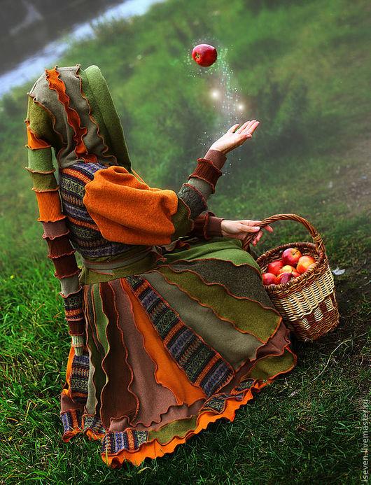 """Верхняя одежда ручной работы. Ярмарка Мастеров - ручная работа. Купить Лоскутное пальто """"Дубовый лист"""". Handmade. Орнамент, дубрава"""