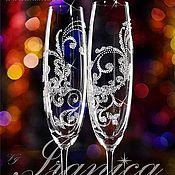 """Свадебный салон ручной работы. Ярмарка Мастеров - ручная работа Свадебные бокалы """"Luciana"""". Handmade."""